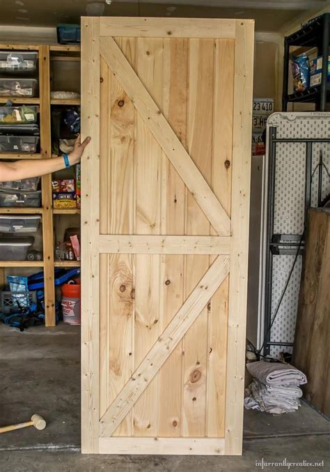 Diy Barn Door Plans Blue Paint