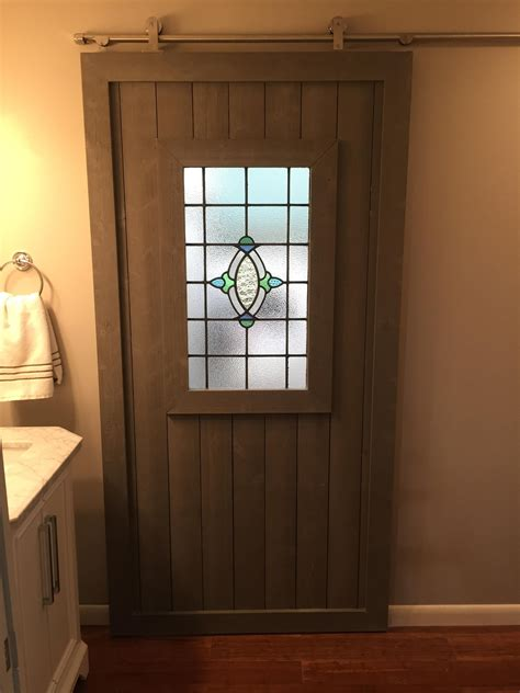 Diy Barn Door With Windows