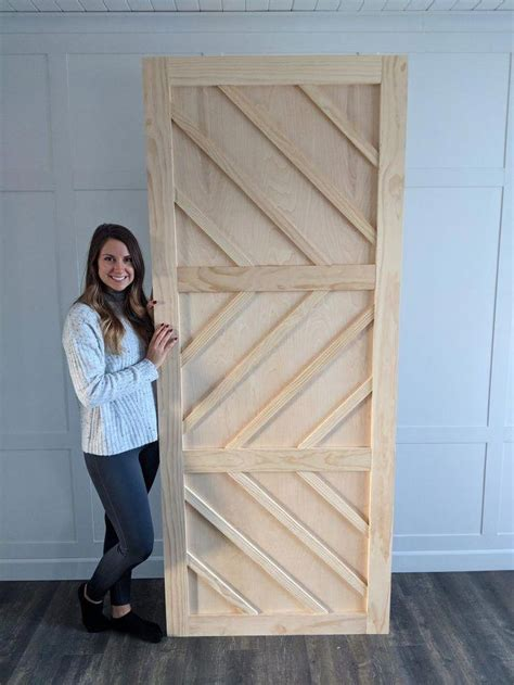 Diy Barn Door Wood Pegs With Nails