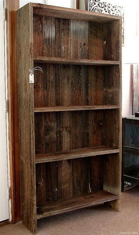 Diy Barn Wood Bookcase
