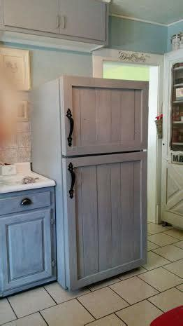 Diy Barn Wood Panel Refrigerator