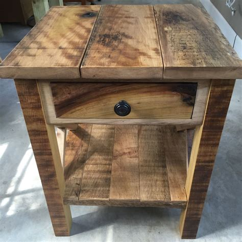 Diy Barnwood Side Table