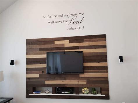 Diy Barnwood Wall Tv