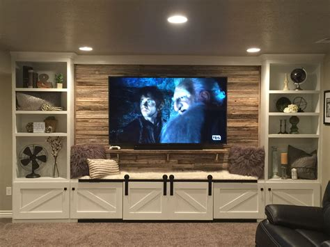 Diy Barnwood Wall Tv Entertainment Center