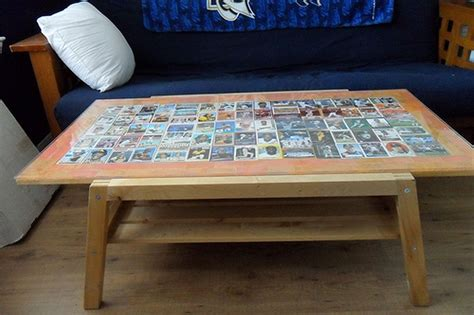 Diy Baseball Card Coffee Table