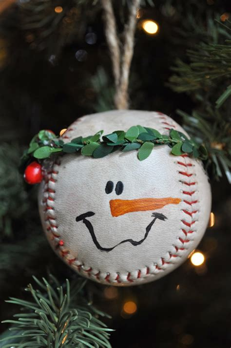 Diy Baseball Ornaments
