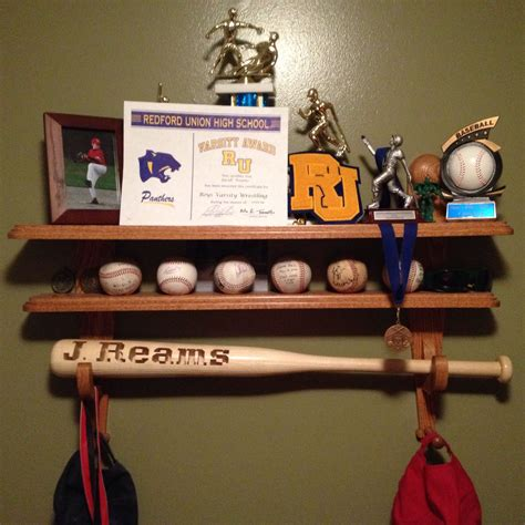 Diy Baseball Trophy Shelf