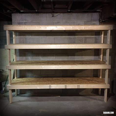Diy Basement Storage Shelves With Osb Sheets And 2x4 S