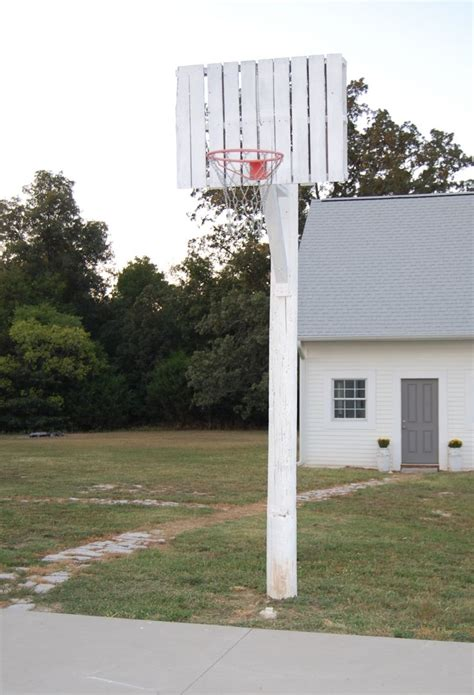 Diy Basketball Hoop Utility Pole Stand