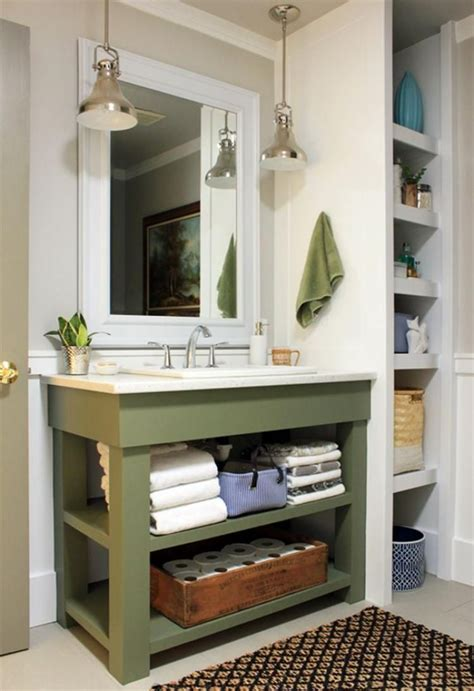 Diy Bath Vanity With Shelf Below