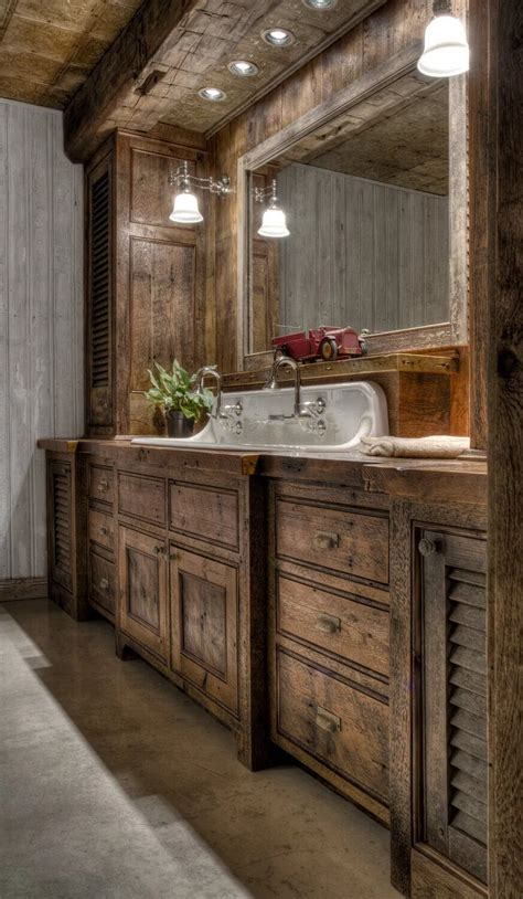 Diy Bathroom Cabinets To Rustic Farmhouse
