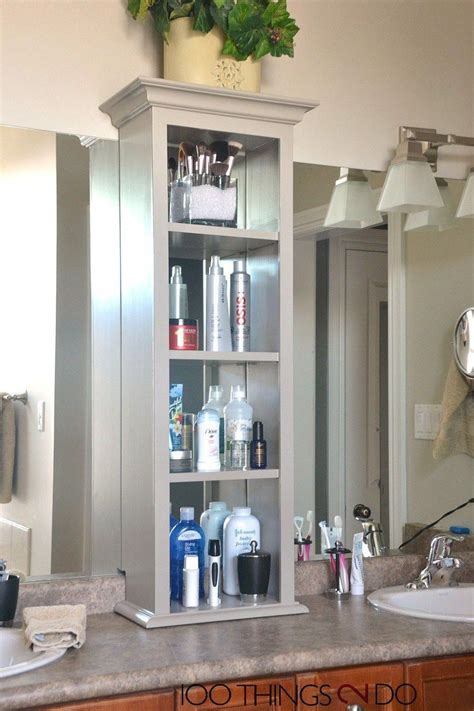 Diy Bathroom Countertop Storage Tower