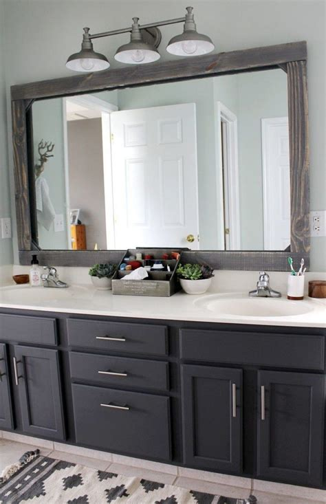 Diy Bathroom Mirror Framing Ideas Pic