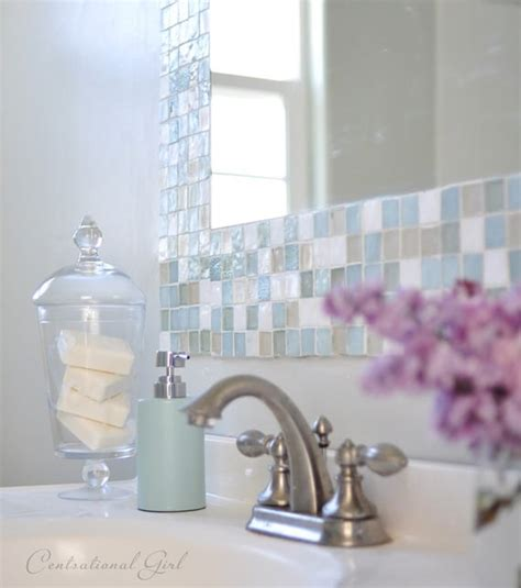 Diy Bathroom Mirror Tile Mosaic