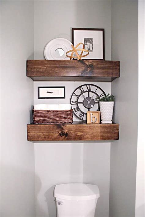 Diy Bathroom Shelves Above Toilet