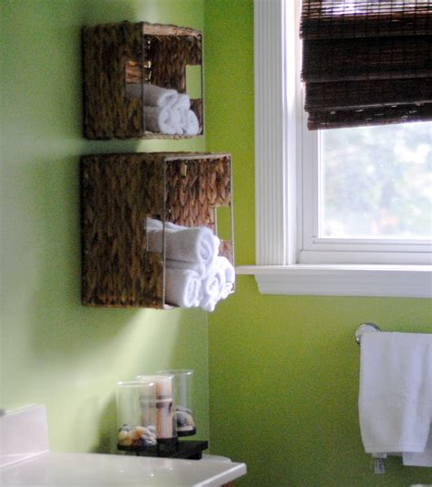 Diy Bathroom Towel Storage