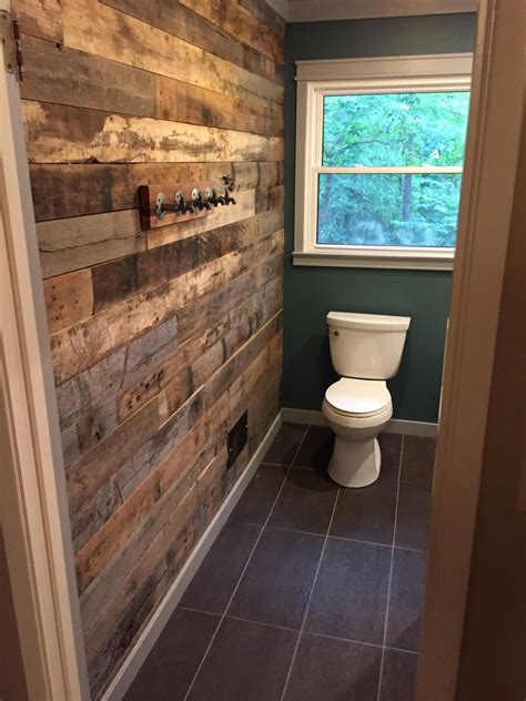 Diy Bathroom Wood Accent Wall