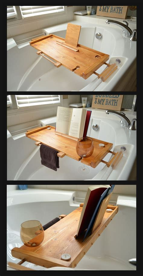 Diy Bathtub Caddy With Reading Rack