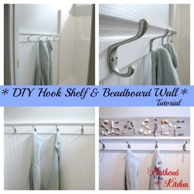 Diy Bead Board Hook Shelf