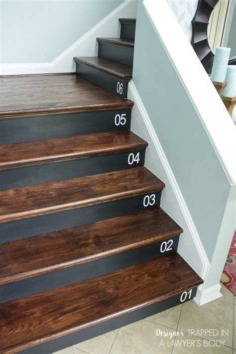 Diy Bead Board Stair Riser Makeover