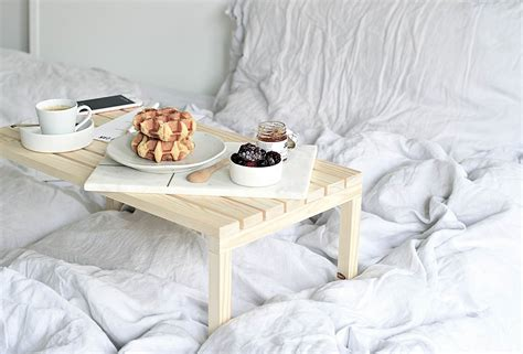 Diy Bed Breakfast Table