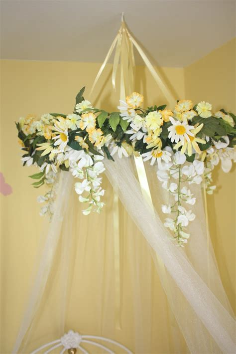 Diy Bed Canopy Flowers