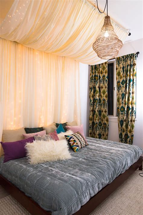 Diy Bed Canopy With Fairy Lights