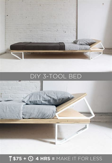 Diy Bed Frame Minimal Tools For Sale