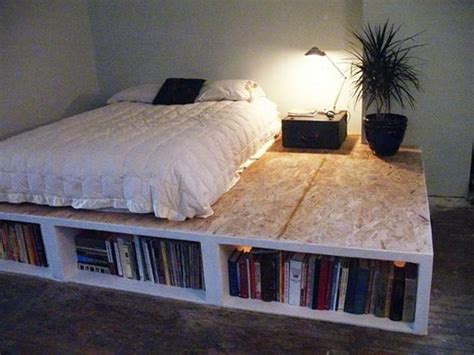 Diy Bed Frame With Bookcases