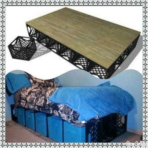 Diy Bed Frame With Crates For Storage