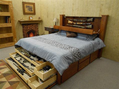 Diy Bed Frame With Hidden Gun Storage