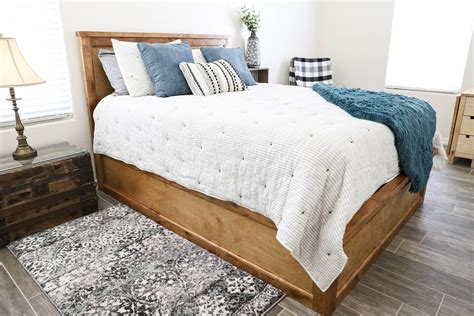 Diy Bed Frame With Storage Pinterest Recipes