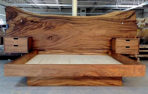 Diy Bed Headboard Woodworking Walnut Sculpted Trunks