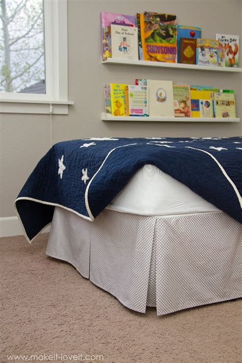 Diy Bed Skirt With Inverted Box Pleats