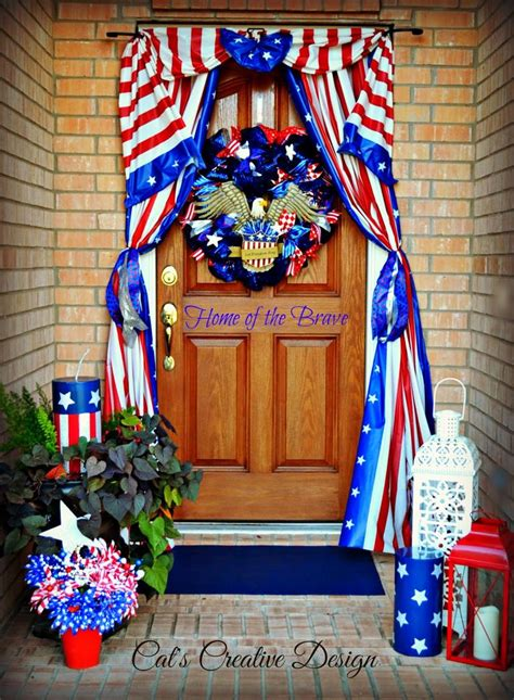 Diy Bedroom Door Decorations For July 4