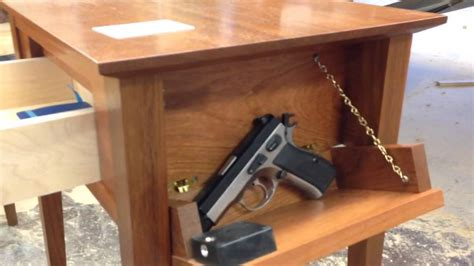 Diy Bedside Table Hidden Gun Compartment