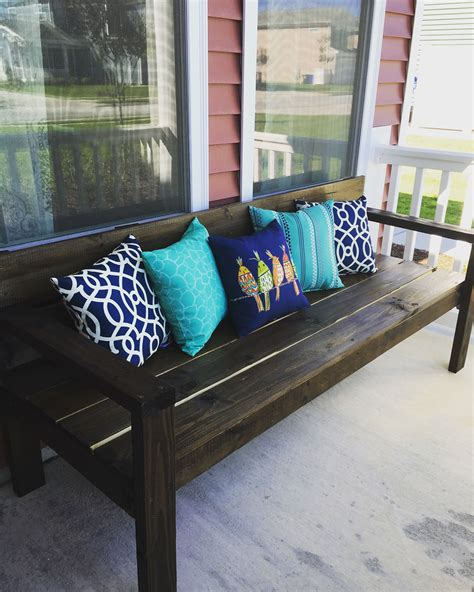 Diy Bench For Front Porch