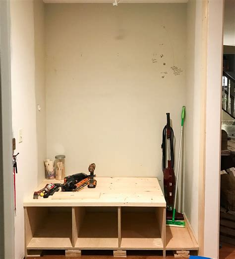 Diy Bench Seats With Cubby