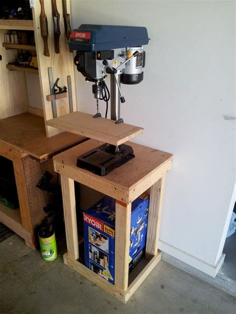 Diy Benchtop Drill Press Stand Plans