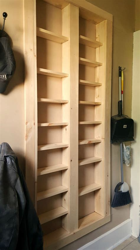 Diy Between Stud Shelves