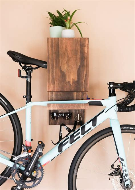 Diy Bike Rack On Wall