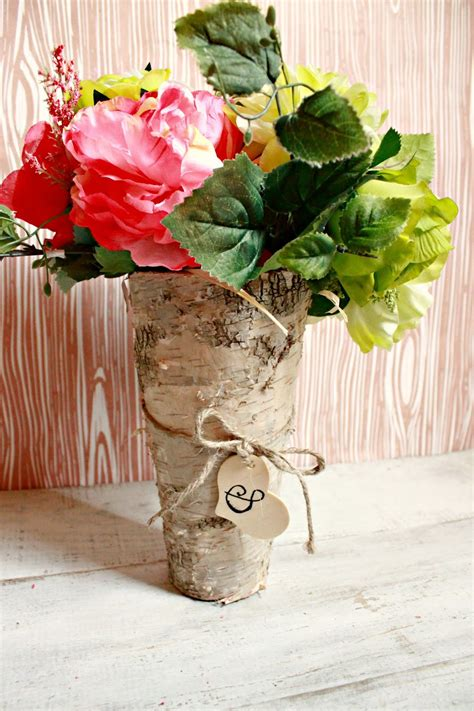 Diy Birch Wood Vase Centerpiece