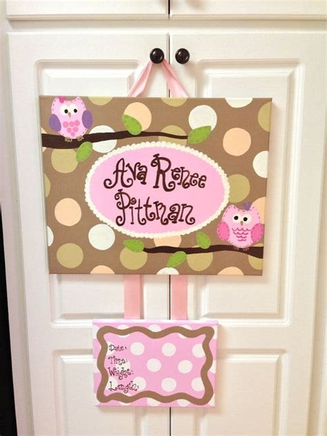 Diy Birth Announcement Door Hanger