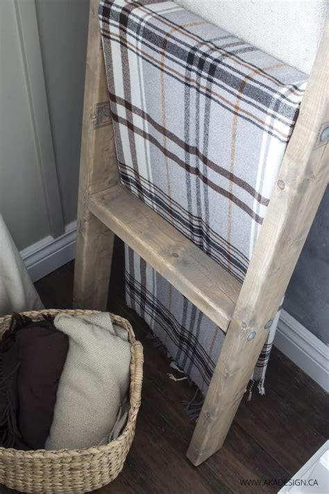 Diy Blanket Ladder 2x4