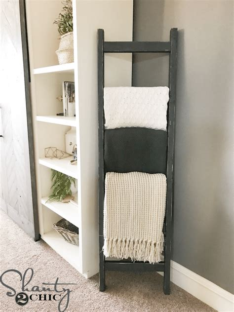 Diy Blanket Ladder Shanty 2 Chic