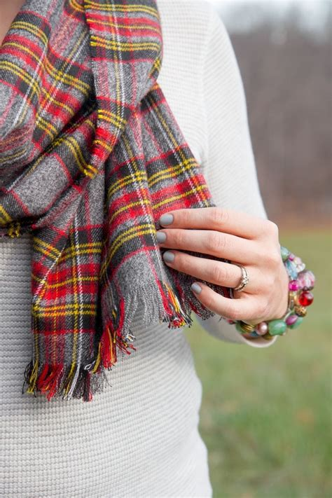 Diy Blanket Scarf With Single Sided Flannel