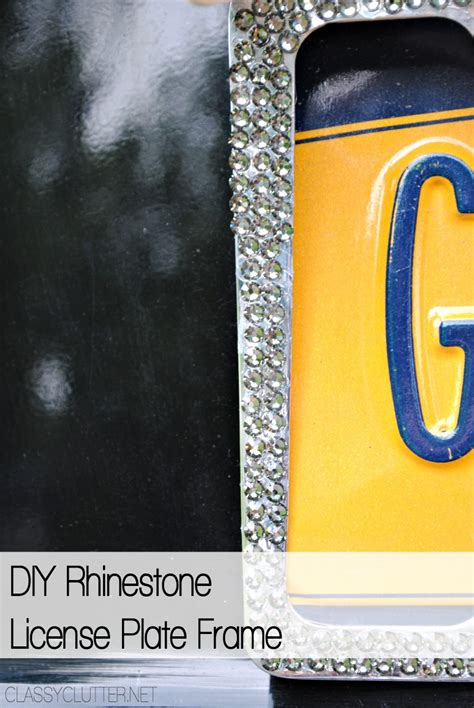 Diy Bling License Plate Frames
