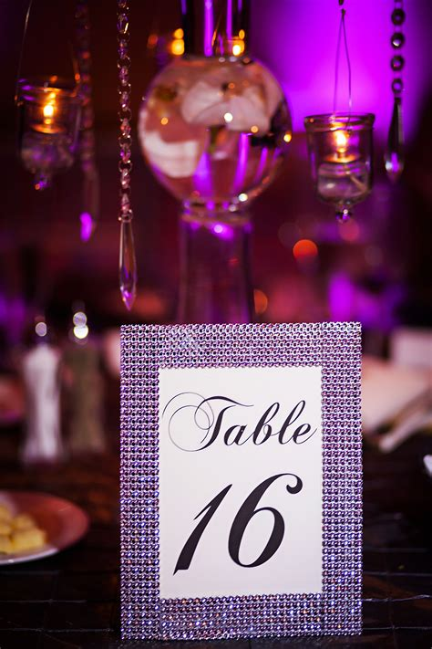 Diy Bling Table Numbers Wedding