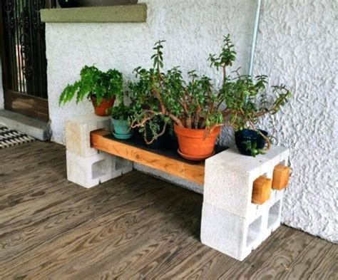 Diy Block Plant Stand