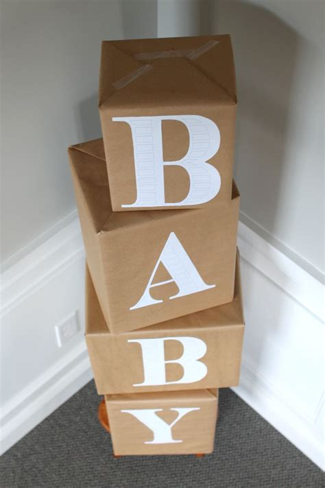 Diy Blocks To Spell Baby Name For Baby Shower